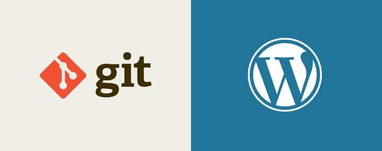 image principale article - CONTRIBUER À WORDPRESS AVEC GIT - logos git et wordpress