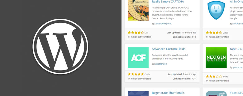 image principale article - LES PLUGINS WORDPRESS QUE J'AI ADOPTÉS - logo et plugins wordpress